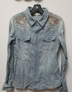 Miss me denim button down